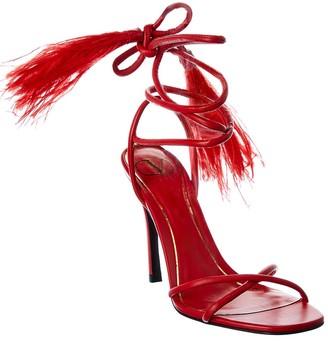 Valentino Ankle Strap Leather Sandal