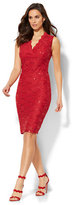 New York & Co. Sequin Lace Overlay Sheath Dress