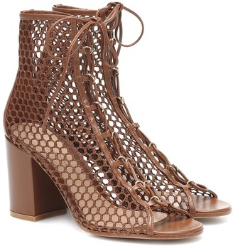 Gianvito Rossi Santana leather-trimmed ankle boots