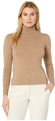 Pendleton Timeless Turtleneck (Camel Heather) Women's Clothing