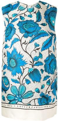 Gucci Watercolour Flowers Tunic Top