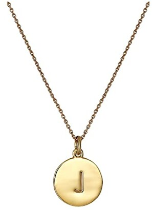 Kate Spade New York Pendants J Pendant Necklace (Gold) Necklace