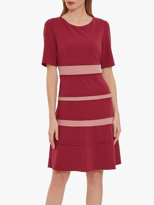 Gina Bacconi Leena Crepe Dress, Russet