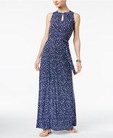 MICHAEL Michael Kors Printed Keyhole Maxi Dress
