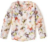 Liz Claiborne Chiffon Blouse With Inside Cami