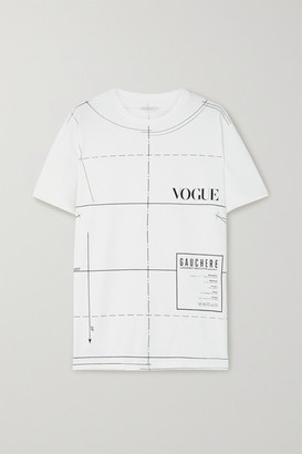 GAUCHERE + Vogue Printed Organic Cotton-jersey T-shirt - White