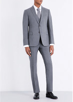 Armani Collezioni Checked slim-fit stretch-wool suit