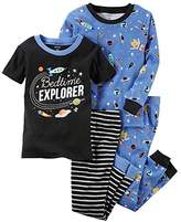 Carter's Boys' 12 Months-12 4 Piece Space Print Pajama Set