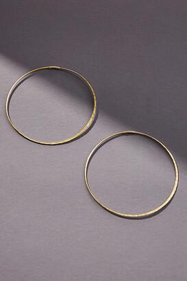 Anthropologie Isabel Large Hoop Earrings By in Gold