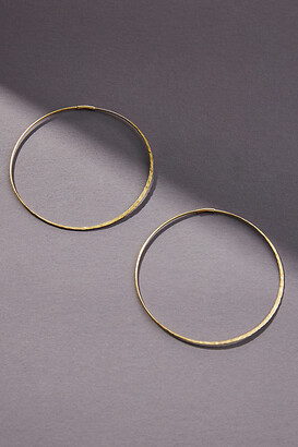 Anthropologie Isabel Large Hoop Earrings By in Silver