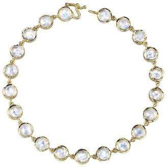 Irene Neuwirth Rose Cut Rainbow Moonstone Bracelet - Yellow Gold
