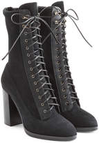 Sergio Rossi Lace Up Suede Boots