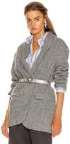 Etoile Isabel Marant Backal Blazer in Grey | FWRD