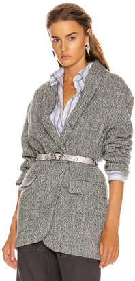Etoile Isabel Marant Backal Blazer in Grey | FWRD