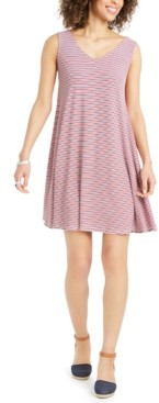 Style&Co. Style & Co Plus Size Cross-Back Swing Dress, Created for Macy's