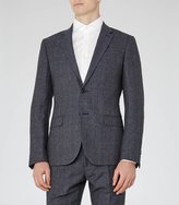 Reiss Reiss Host B - Wool Notch Lapel Blazer In Blue, Mens