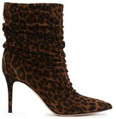 Gianvito Rossi Leopard ankle boots