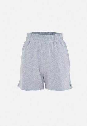Missguided Grey Side Split Shorts