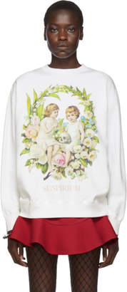 Undercover White Cherub and Skull Sweatshirt