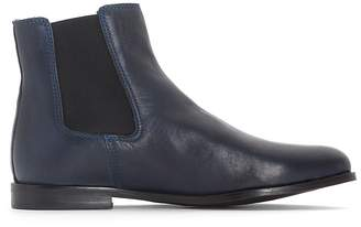 La Redoute Collections Leather Chelsea Ankle Boots