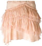Roberto Cavalli ruffled mini skirt - women - Silk - 38
