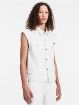 Calvin Klein White Denim Vest