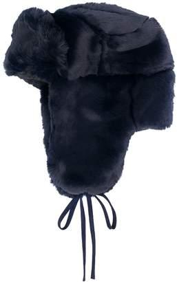 Paul Smith tied ear flap hat