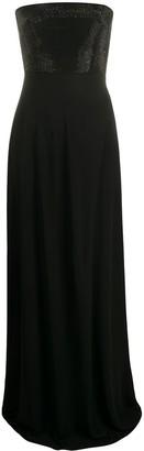 Emporio Armani long strapless gown