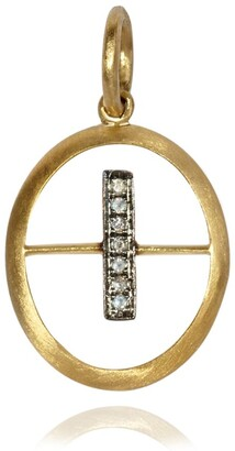 Annoushka Yellow Gold and Diamond Initial I Pendant