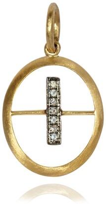 Annoushka Yellow Gold And Diamond Initial I Pendant