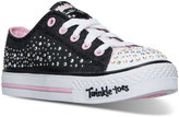 Skechers Little Girls' Twinkle Toes: Shuffles - Sparkle Wishes Light-Up Sneakers from Finish Line