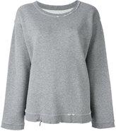 RtA destroyed effect sweatshirt - women - Cotton/Polyester - S