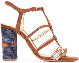 Alexandre Birman embellished sandals - women - Cotton/Leather/Suede - 37.5