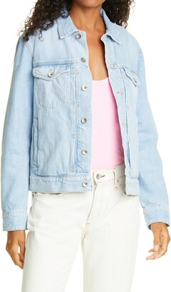 Rag & Bone Shrunken Denim Trucker Jacket