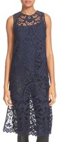 Alice + Olivia Women's Kelissa Lace Side Slit Tunic With Camisole