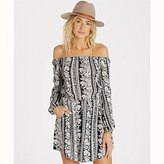 Billabong Women's Scenic Roads Off the Shoulder Printed Dress