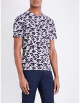 Sandro Wave-print Pure-cotton T-shirt