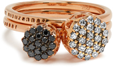 SELIM MOUZANNAR Diamond & pink-gold Beirut rings