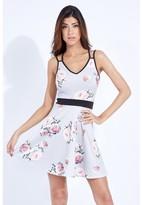Select Fashion Fashion Floral Double Strap Skater Dress Dresses - size 6