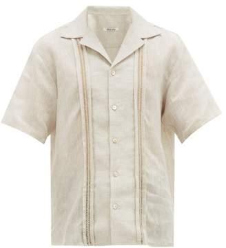 BEIGE Hecho - Deshilado Linen Shirt - Mens