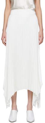 Joseph White Ade Rib Plisse Long Skirt
