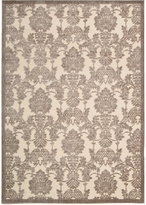 "Nourison East Hampton Damask Ivory/Latte 5'3"" x 7'5"" Area Rug"