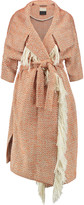 By Malene Birger Wittie fringed bouclé coat