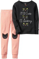 Carter's 2 Piece Scary Kitty PJ Set (Toddler/Kid) - Print - 5T