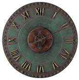 "Lazy Susan Marilia Verde 31.5"" Round Wall Clock Antique Copper"