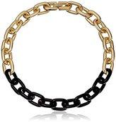 """Sam Edelman Color-Block Link Necklace, 17"""""""