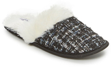 Ellen Tracy Black & White Tweed Slipper