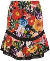 Alice + Olivia Eriko Floral Mini Skirt