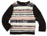 Milly Girl's Sequin Fringe Sweater