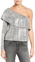 Trouve Metallic One-Shoulder Top